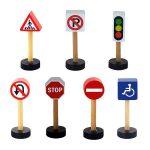 Járművek - Játék közlekedési táblák