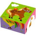 Gyerek Puzzle - Mesekocka - Mesekocka 4 db-os (lovacskás)