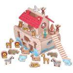 Fajátékok gyerekeknek - Formabedobós Noé bárkája (M)