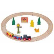 Járművek - Játék vonatok - Vonatkészlet, 20 db-os