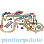 Járművek - Játék vonatok - Vonatkészlet, 80 db-os