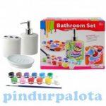 Kreatív hobby készletek - Festhető fürdőszobai készlet