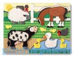 Gyerek Puzzle - Kirakósok - Készségfejlesztő tapintós puzzle háziállatokkal Melissa & Doug