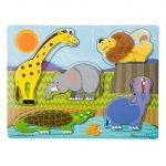 Gyerek Puzzle - Kirakósok - Készségfejlesztő tapintós puzzle vadon élő állatokkal Melissa & Doug
