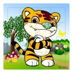 Puzzle kirakók - Fa tigris puzzle 16 darabos