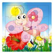 Puzzle kirakók - Kirakó 16 darabos pillangó