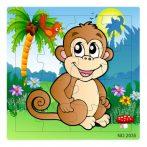 Puzzle - 16 db-os majmos fa puzzle