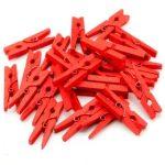 Kézműves kellékek - Mini dekorációs csipesz piros