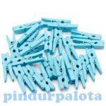 Kézműves kellékek - Mini dekorációs csipesz kék