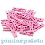 Kézműves kellékek - Mini dekorációs csipesz rózsaszín