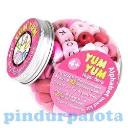 Fűzős játékok gyerekeknek - Gyöngyök - Fa golyók - Bead Bazaar Fincsi gyöngyök - édes bogyó