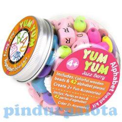 Fűzős játékok gyerekeknek - Gyöngyök - Fa golyók - Bead Bazaar Fincsi gyöngyök - bogyóválogatás