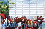 Írószerek-iskolaszerek - Avengers órarend