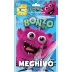 Party kiegészítők - Exkluzív zsúrmeghívó Bonzo
