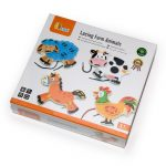 Fűzős játékok gyerekeknek - Fűzőcske (színes, 4db-os farm)