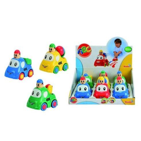 Játék autók - Autós játékok - ABC Funny Press&Go autó Simba