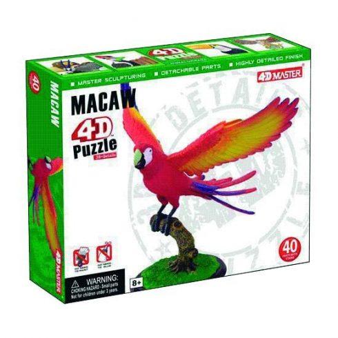 Junior puzzle - 4D Puzzle Vörös Ara papagáj