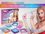 Kreatív hobby készletek - Rózsaszín narancs lila világoskék TyToo hajkréta kiegészítő szett