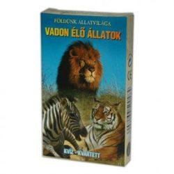 Kártya játékok - Mesekártyák - Memória kártyák - Vadonélő állatok kártyajáték