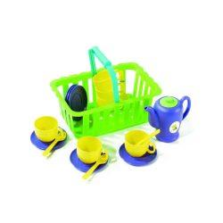 Szerepjátékok - Játékkonyha - Műanyag játék piknikező teás készlet