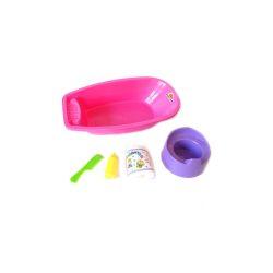 Kiegészítők játékbabákhoz - babakád bilivel lila színben