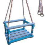 Kültéri játékok - Sport eszközök gyerekek számára - Fa hinta kék