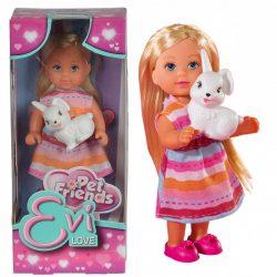 Játékbaba- Műanyag babák - Evi Love baba édes nyuszival