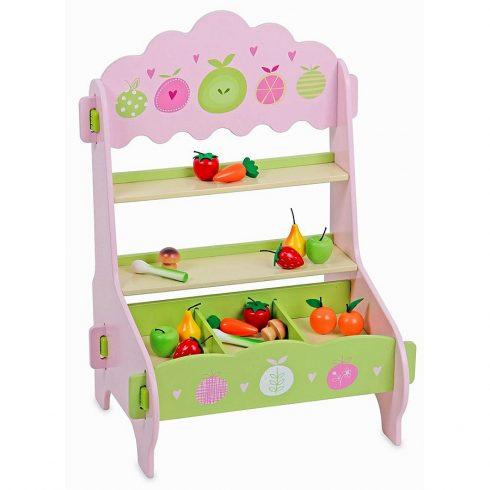 Fa játékok - Asztali eladópult rózsaszín