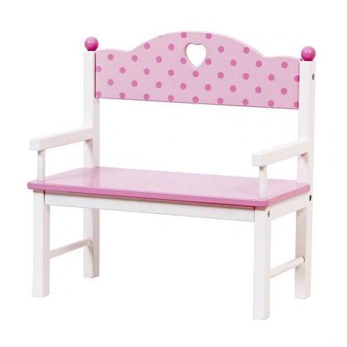 Játék bútorok babázáshoz - Játék kerti pad