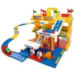 Játék Garázsok - Autópályák -Parkolóházak kisautókhoz - 3 szintes garázs játszóterülettel - Wader