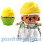 Állat figurák - Sütimaci többféle illatos kifordítható muffin mackó