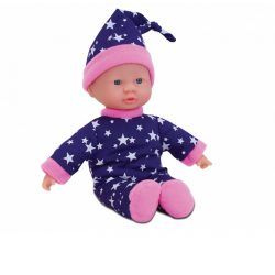 Műanyag babák - Laura Little Star puha testű játékbaba csillagos pizsamában