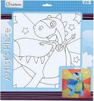Kreatív hobby - Kifestők - Festővászon előre rajzolt dinó mintával