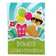 Írószerek-iskolaszerek - Boldog születésnapot képeslap