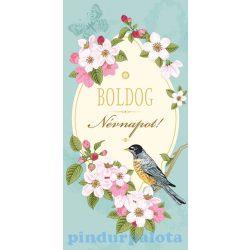 Képeslapok - Ünnepi képeslapok - Alkalmi képeslap Virággal és madárkával