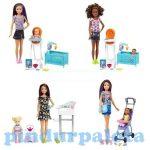 Műanyag babák - Barbie babák - Barbie Babysitter játékszett többféle