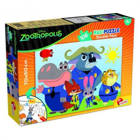 Gyerek Puzzle - Állati nagy balhé - Zootropolis - 108db-os Maxi puzzle