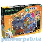 Gyerek Puzzle - Kirakósok - Állati nagy balhé 108 db-os puzzle plus