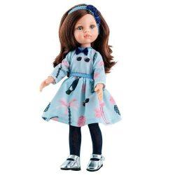 4557dfdde5 Babaruha - Paola Reina kiegészítő kék, mintás ruha 32 cm-es babákra