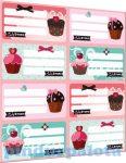 Iskolaszerek - Füzetcímke íves Candy Store