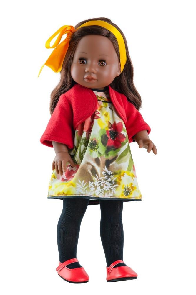 e013585e6f Babaruha - Paola Reina kiegészítő - Virágmintás ruha boleróval 42 cm-es  babákra .