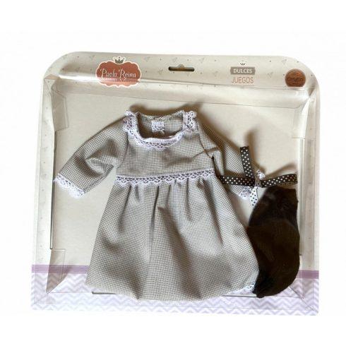 Babaruha - Paola Reina kiegészítő - Kockás ruha 42 cm-es babákra