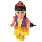 Játékbaba - Műanyag babák - Evi Love baba kicsi hercegnő fekete hajjal
