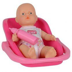Játékbabák - Műanyag-babák - Újszülött baba cumisüveggel kádban 15 cm