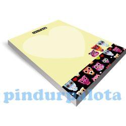 Papírblokkok - Jegyzettömb A/5 50 lapos lollipop Owl