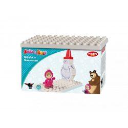 Építőjátékok gyerekeknek - Mása és a Medve Építőjáték Duplo kompatibilis PlayBig Bloxx