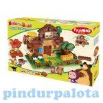 Mása és a medvés játékok - Masha és Misa háza építőjáték
