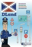 Játék autópályák - Dland ECO Jelzőtábla és Forgalomirányító kiegészítő készlet