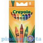 Írószerek - Iskolaszerek - Íróeszközök - Crayola zsírkréta, 8 db-os