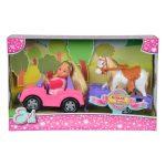 Játékbabák - Evi Love Jeepben lószállítóval